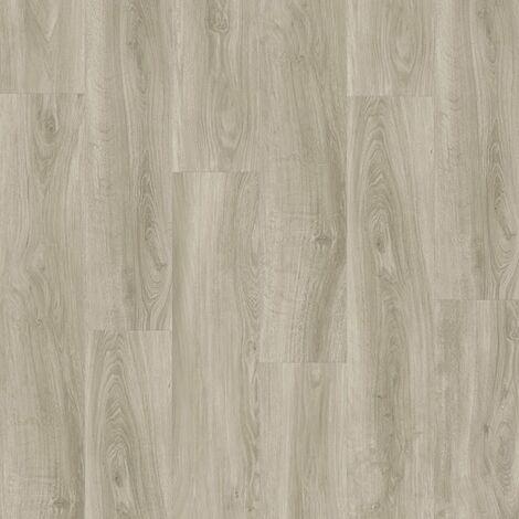 Lame PVC à clipser - boite de 7 lames - 1,61m² - Starfloor Click 55 - imitation parquet English Oak gris Beige - Tarkett