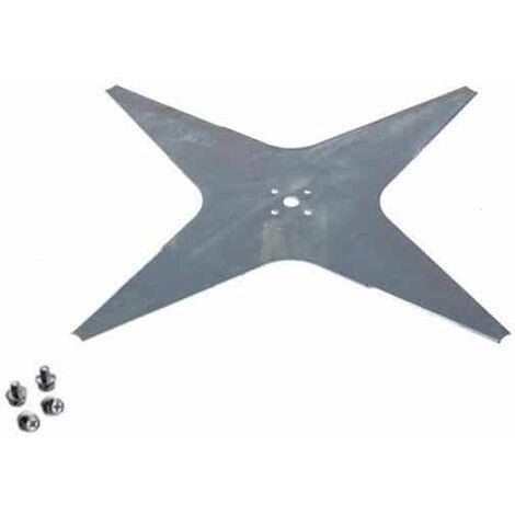 Lame robot tondeuse plate 4 dents diamètre 355mm AMBROGIO - WIPER 300D004204
