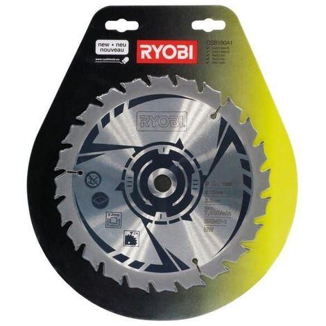 Lame scie circulaire 190x16 24 dents pour Scie circulaire Bosch, Scie circulaire Ryobi, Scie a onglets Ryobi, Scie circulaire A.e.g, Scie circulaire M