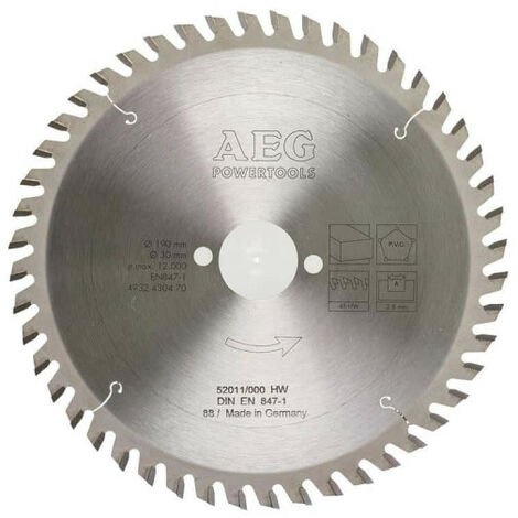 Lame scie circulaire AEG 2.8x190mm 4932430470