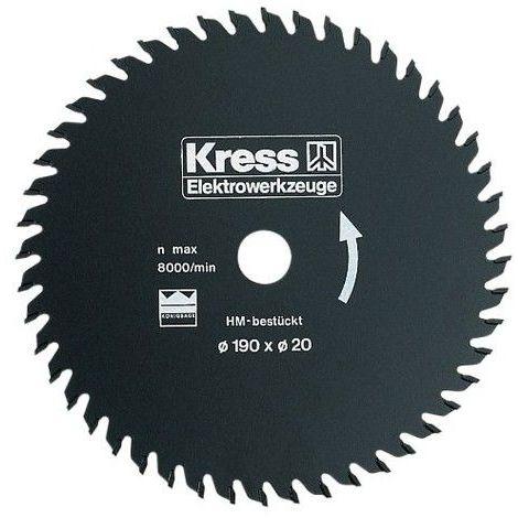 Lame scie circulaire Carbures 32 dents 190 x 20 mm , Kress 98034601