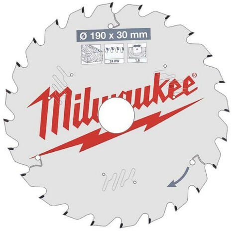 """main image of """"Lame scie circulaire MILWAUKEE 24 dents 1.6x190mm 4932471300"""""""