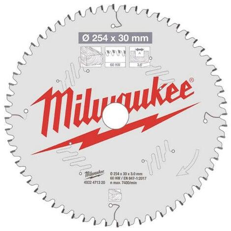 Lame scie circulaire MILWAUKEE pour scie à onglet 60 dents 3x254mm 4932471320