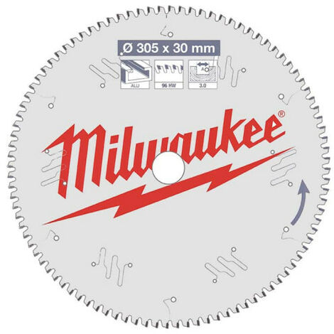 Lame scie circulaire MILWAUKEE pour scie à onglet 96 dents 3x305mm 4932471323
