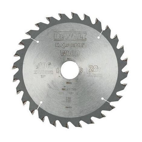 Lame scie circulaire portative - Diametre : 235 - Dents : 28 - Angle : 25° - Utilisation : MDF, bois dur, laminé - DEWALT