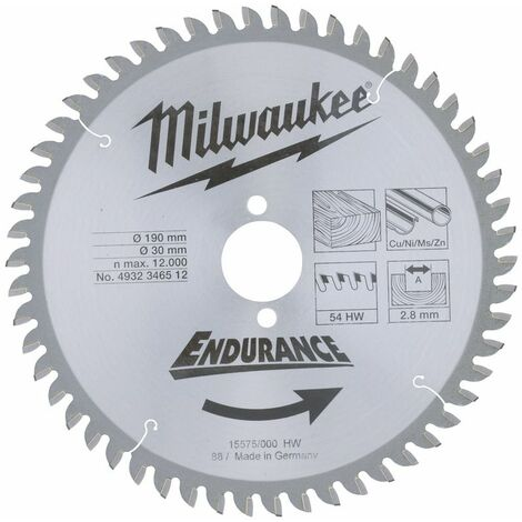 LAME SCIE CIRCULAIRE190MM/54 DTS (X1) MILWAUKEE ACCESSOIRES - 4932471303 - -