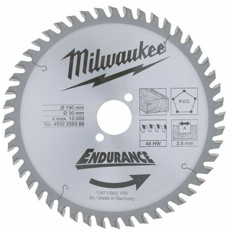 Lame scie Universel MILWAUKEE 48 dents 2.1x190mm 4932471380