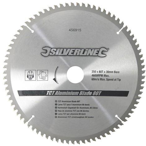 Lame TCT pour aluminium, 80 dents 250 x 30 - bagues de 25, 20 et 16 mm