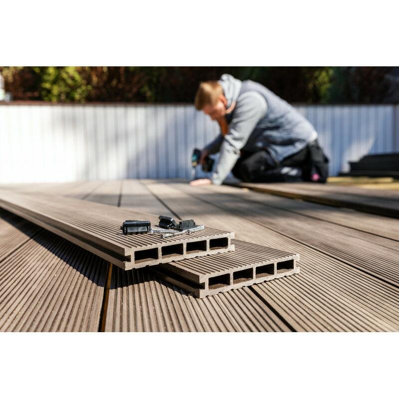 Ultra Lame terrasse bois composite alvéolaire Prima L 220 cm / l12 cm YX-09