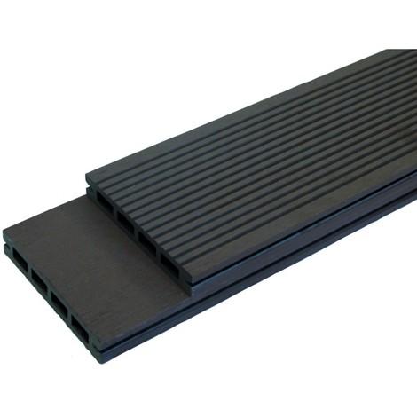 Lame terrasse bois composite alvéolaire Prima L 220 cm / l12 cm / ep 19 mm