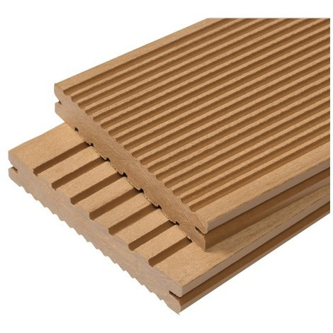 Lame terrasse bois composite plein Maxima L 360 cm / l 14 cm / ep 2,2 cm