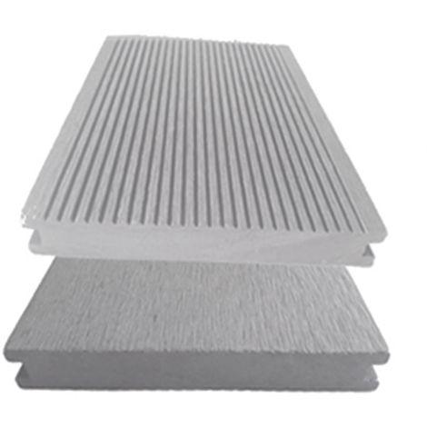 Lame terrasse PLEINE gris. Qualité PRO - lame bois composite réversible