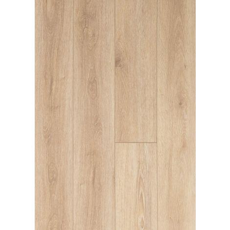 Lame vinyle rigide clipsable avec sous couche intégrée- Megève - Teinte chêne Sable | 1.56 mètre carré