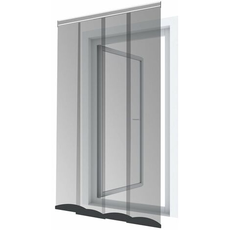 Lamellenvorhang für Türen PRO - 120x250 cm, schwarz