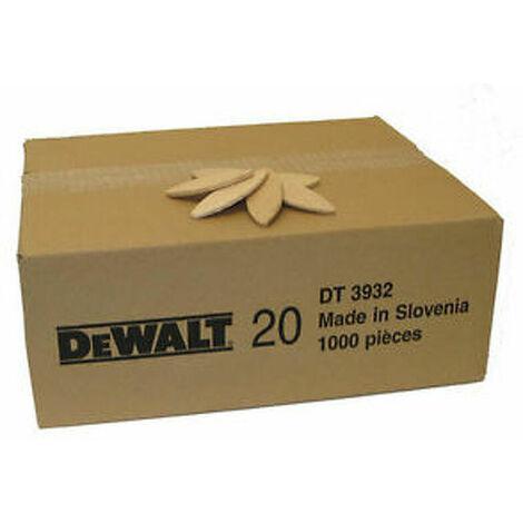 Lamelles DEWALT taille 20 (1000 pcs) - DT3932