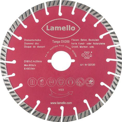 LAMELLO Diamant Trennscheibe ø 180 mm zu Tanga DX200 für Beton, Fliesen und Putz
