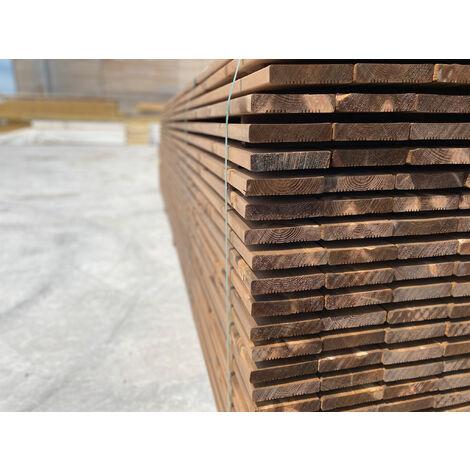 [LAMES] 20m2 Terrasse Bois Pin Autoclave Brun Classe 3 (compris Livraison Sur Rendez-vous)
