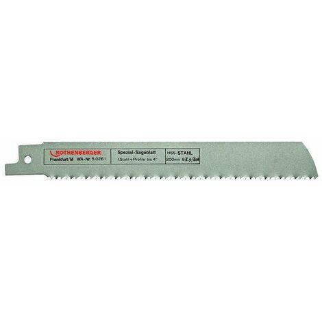 Lames de scie spéciales tube pour coupe rapide HSS 200x25x16mm