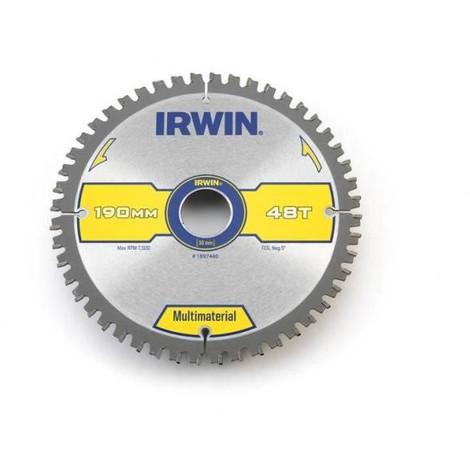 IRWIN Lame de scie circulaire sharper longer 190 x 30 x 2,4 mm 48 dents