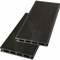 Lames de terrasse composite 2.60m - Garantie 7 ans - réversibles - Couleur Anthracite