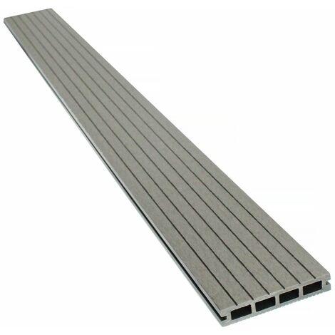 Lames de terrasse composite alvéolaires - Long: 2,4m - 1 m2- Gris