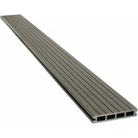 Lames de terrasse composite alvéolaires - Long: 2,4m -1 m2- Gris foncé