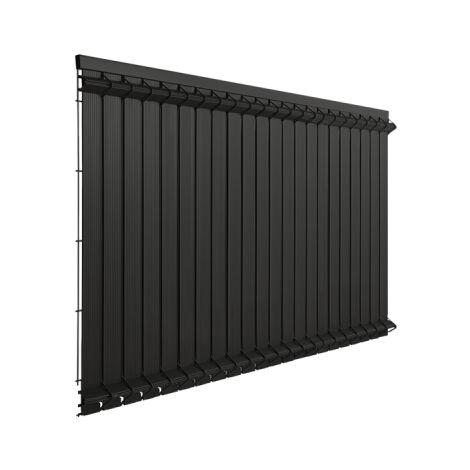 Lames Occultation Grillage Rigide Gris - 2M - JARDIMALIN - 1,03 mètre