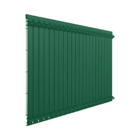 Lames Occultation Grillage Rigide Vert - 2M - JARDIMALIN - 1,23 mètre