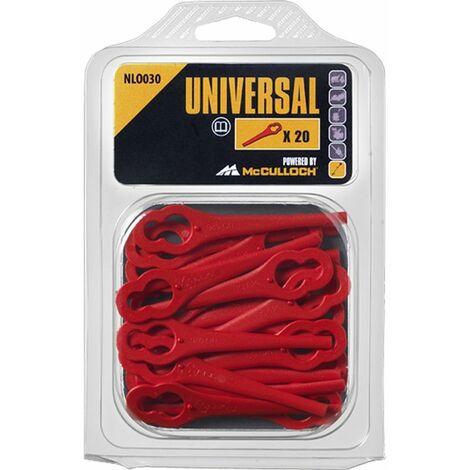 Lames plastiques pour coupe-bordures sans fil Bosch - NLO030