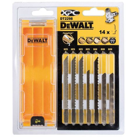Lames XPC&reg pour le bois - Coffret de 14 lames/Applications:Coffret de 14 lames (DT2205 x 3, DT2209 x 3, DT2213 x 3, DT2207 x 1, DT2216 x 1, DT2217 x 1, DT2218 x 1, DT2220 x 1) / Longueur totale:Divers mm / Longueur utile:Divers mm / Pas des dents:Diver
