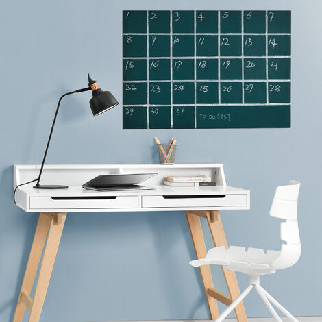 Lámina de pizarra (incluye 2 tizas) - color verde - 43x300cm - autoadhesiva