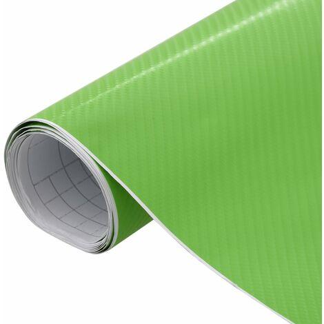 Lámina para coches verde mate 4D 200x152 cm