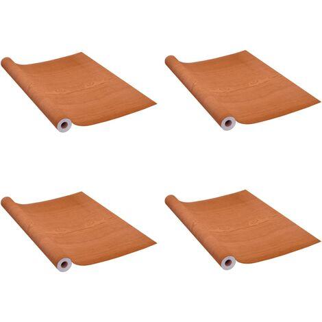 Láminas autoadhesivas muebles 2 uds PVC roble claro 500x90 cm