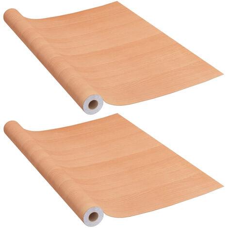 Laminas autoadhesivas muebles 2 uds PVC roble japones 500x90 cm