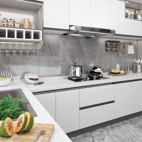 Láminas autoadhesivas muebles PVC blanco 500x90 cm - Blanco