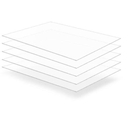 Láminas de cristal acrílico 5 unidades 60x80 cm 3 mm