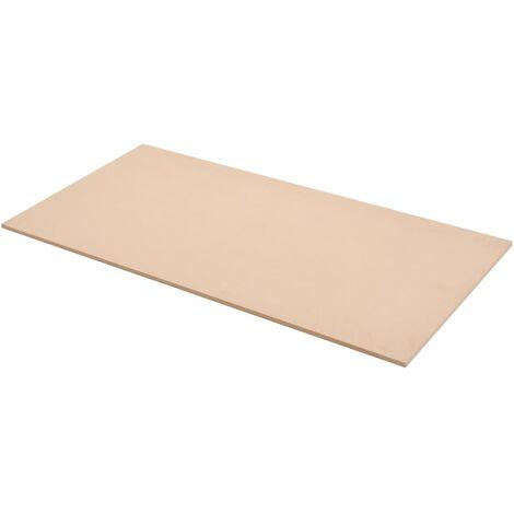 Láminas de MDF rectangulares 4 unidades 120x60 cm 12 mm
