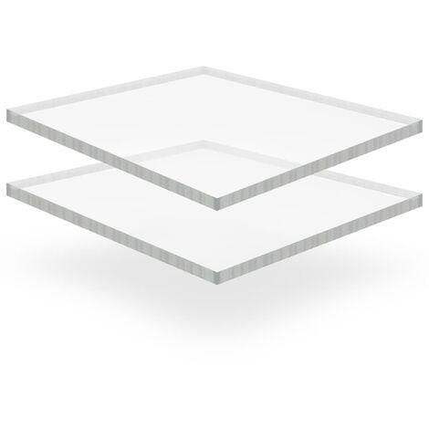 Láminas de vidrio acrílico 2 unidades 40x60 cm 15 mm