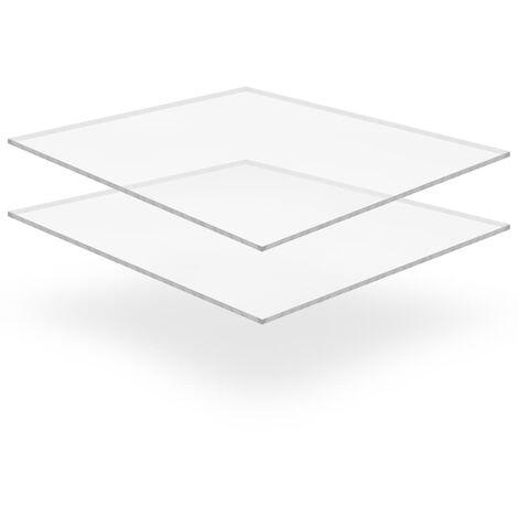 Láminas de vidrio acrílico 2 unidades 40x80 cm 10 mm