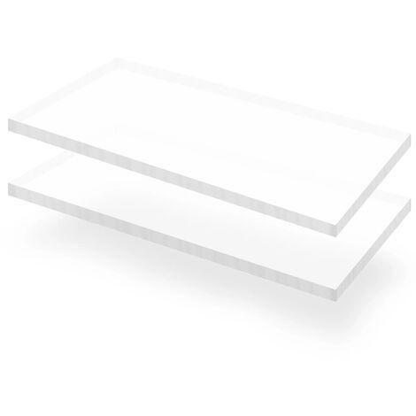Láminas de vidrio acrílico 2 unidades 60x120 cm 15 mm