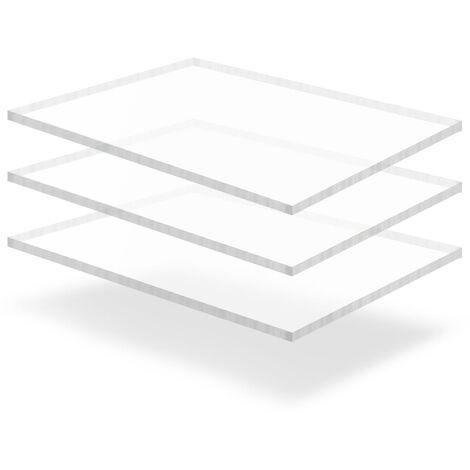 Láminas de vidrio acrílico 3 unidades 60x80 cm 15 mm