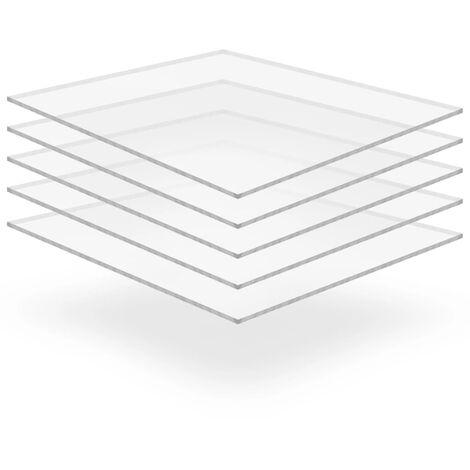 Láminas de vidrio acrílico 5 unidades 40x60 cm 10 mm