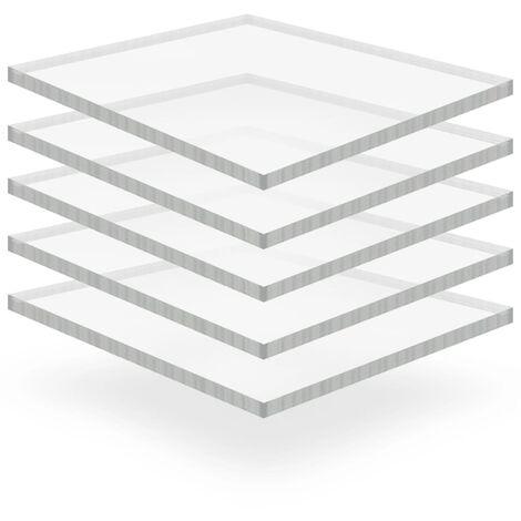 Láminas de vidrio acrílico 5 unidades 40x60 cm 15 mm