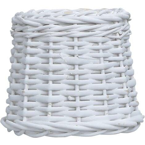 Lamp Shade Wicker 20x15 cm White - White