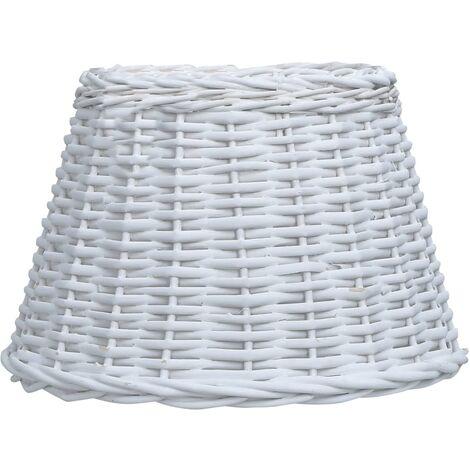 Lamp Shade Wicker 38x23 cm White