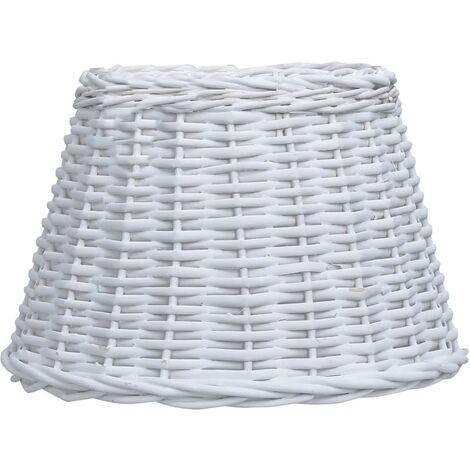 Lamp Shade Wicker 50x30 cm White
