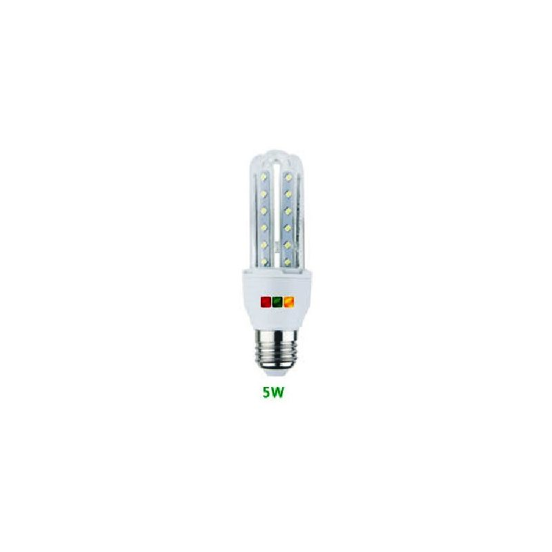 Lampada 3 Tubi Led E14 5W 6000°K - Gigra Line Tl05M/860