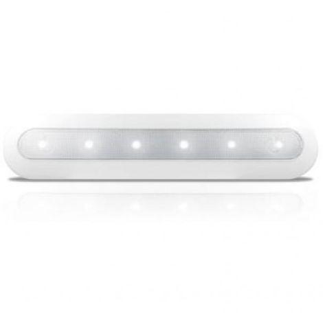 LAMPADA A 6 LED DI CORTESIA PER ARMADI E MENSOLE COLORE BIANCO 103630