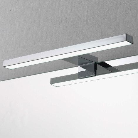Lampada Da Bagno Per Specchio.Lampada A Led Per Specchio Da Bagno Cm 30 Cromata Per Applicazione