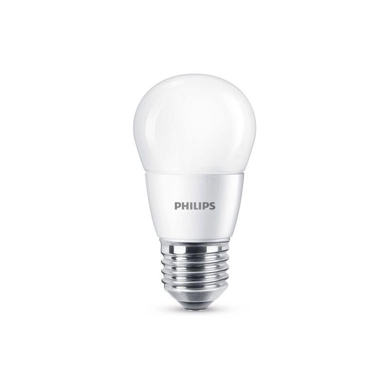 Lampadina LED Sfera 60 W, Attacco E27, 4000K, Non Dimmerabile [Classe di efficienza energetica A++] - Philips